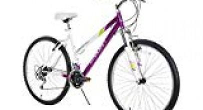 Dynacraft Speed Alpine Eagle Womens Road/Mountain 21 Speed Bike 26″, Purple/White/Green