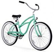 Firmstrong Urban Lady Single Speed – Women's 26″ Beach Cruiser Bike (Mint Green)